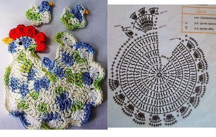 Il blog di Vera Maglia&Uncinetto: decorazione per pasqua gallo uncinetto