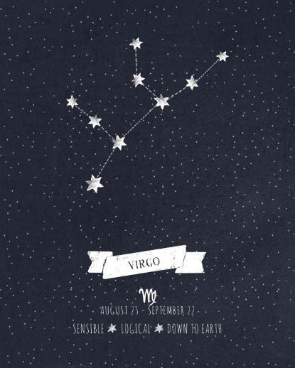 Virgo Constellation Print Art Print