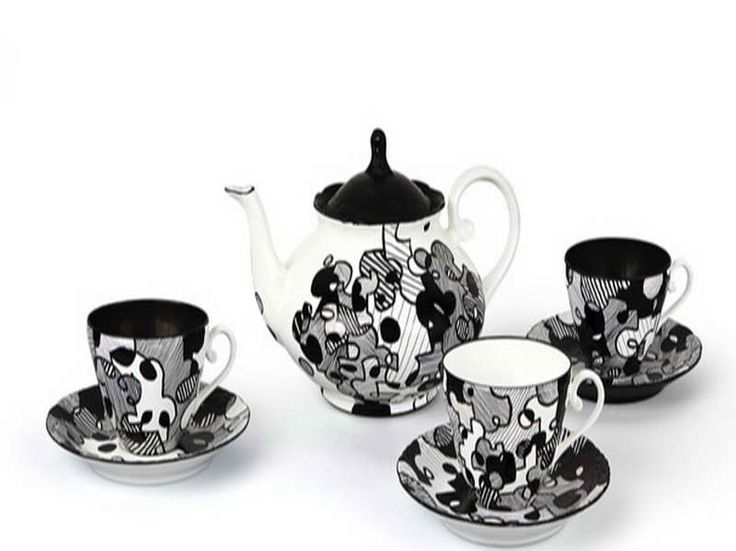 Modern Tea Sets for Adults | Why You Should Have The Contemporary Tea Set with abstract motifs