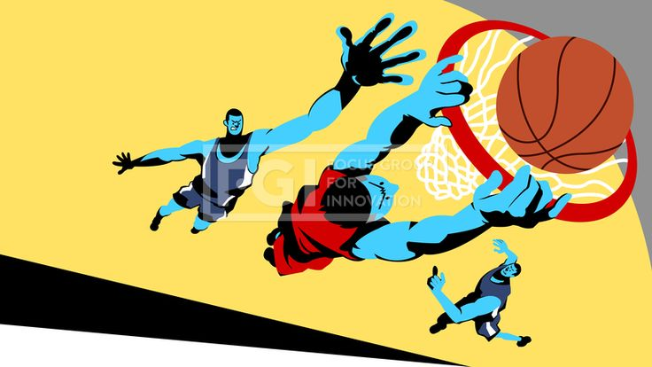 SILL270, 프리진, 일러스트, 사람, 인물, 캐릭터, 운동선수, 운동, 다이나믹, 스포츠, 국가대표, 스포츠스타, 선수, 체육, 체력, 그룹, 단체, 전신, 남자, 남성, 3인, 성인, 어른, 액션, 모션, 경기, 경쟁, 시합, 게임, 승부, 장비, 도구, 유니폼, 운동복, 프로, 건강, 달리는, 뛰는, 점프, 농구, 골대, 농구공, 덩크, 슛, 덩크슛, 점수, 치열, 방해, 리그, 우승, 농구화, 레드, 빨간, 빨강, 붉은, 노란, 노랑, 블루, 파랑, 하늘색, 파란, 남색, 주황, 그림자, #유토이미지