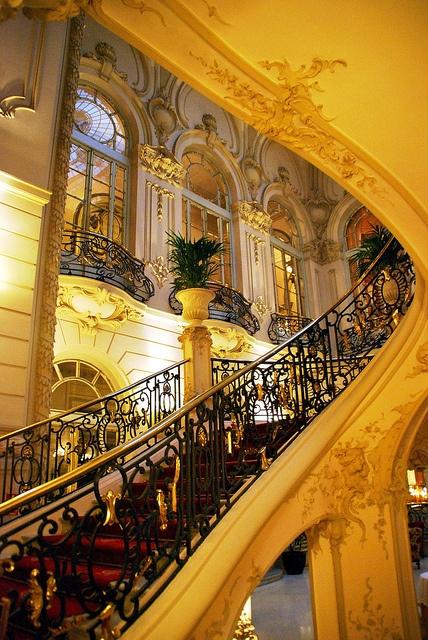Spain. Madrid Casino main stairs