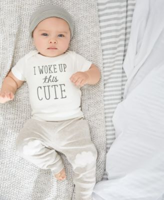 Made from ultra-soft cotton that's so gentle against sensitive skin, this three-piece set from Carter's includes a cardigan, comfy pants, and adorable T-shirt. | Cotton | Machine washable | Imported |