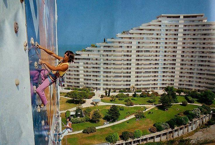 "Patrick Berhault & (maybe) Monique Dalmasso at ""Marina baie des anges"". Antibes / Nice. 90s"