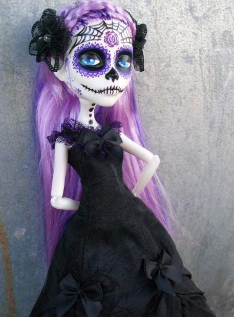 Monster High Made to Order Custom Dia De Los Muertos Day of the Dead Doll SALE. $90.00, via Etsy.