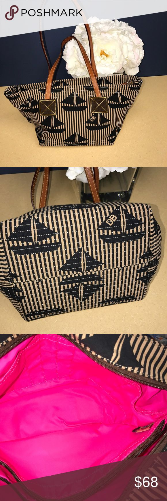Donney & Bourke Sailboat Tote BNWOT. Hot pink interior. Excellent condition Dooney & Bourke Bags Totes