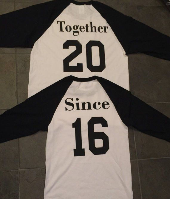 Just Together Since Shirts. Gift for her or him married set of 2 Matching/Lovebirds Couples shirts