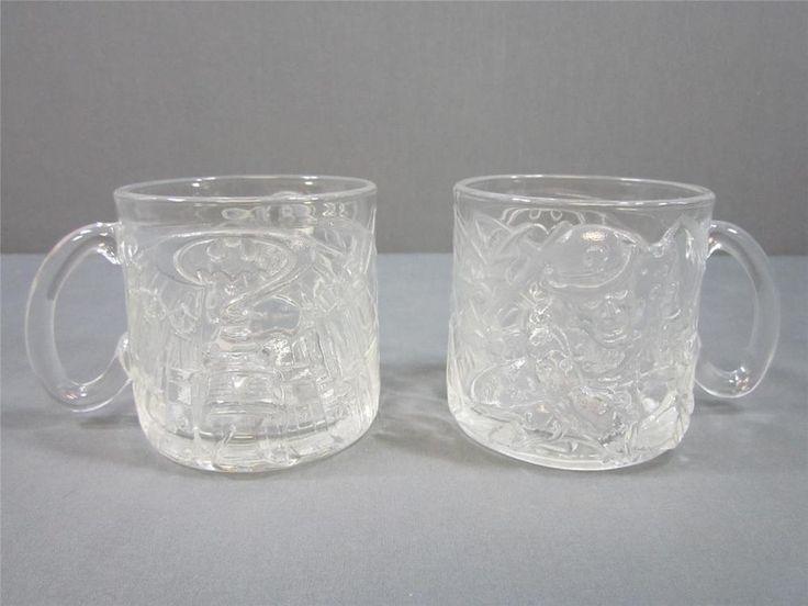 Vintage McDonald's Batman Forever Riddler Mugs Glass Mugs Raised Designs    eBay #batman #riddler #mugs