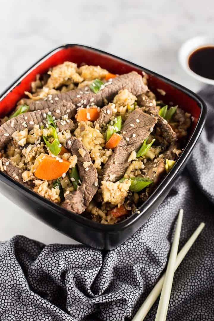 Keto Beef Fried Rice With Cauliflower Rice Recipe Fried Rice