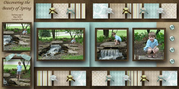 901 best layouts misc double page images on pinterest for Waterfall design in scrapbook