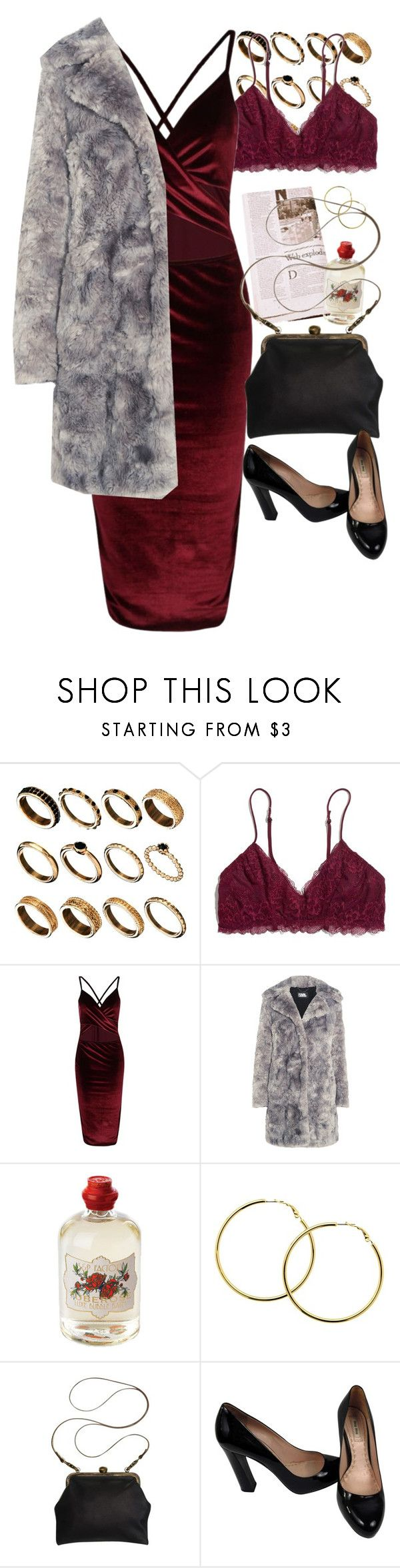 """""""Burgundy, Grey and Black"""" by aurorajeanette ❤ liked on Polyvore featuring ASOS, Madewell, Karl Lagerfeld, Soap & Paper Factory, Melissa Odabash, Mimi Berry and Miu Miu"""