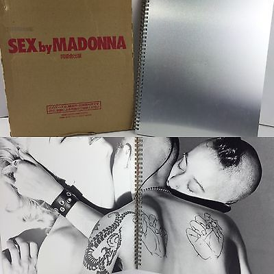 Sex by Madonna Book Rare Japanese Erotic Book Aluminum Cover
