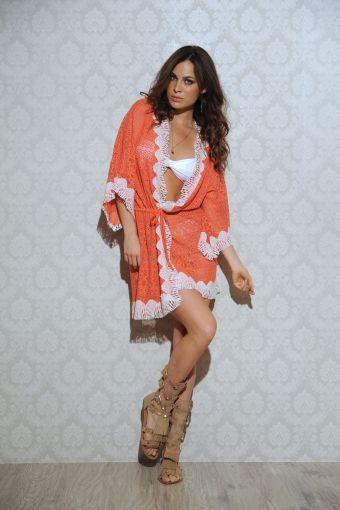 Coral Laced Kimono