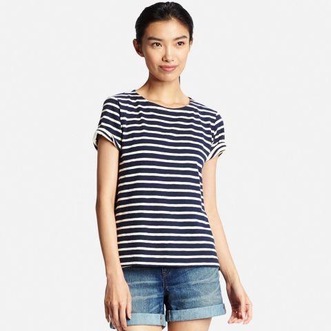 Best Women's T-Shirts- Cheap T-Shirts: STRIPED TEES Uniqlo Women Slub Striped Short Sleeve T, $14.90; Uniqlo.Vist redbookmag.com for more spring trends. Vist redbookmag.com for more spring trends.