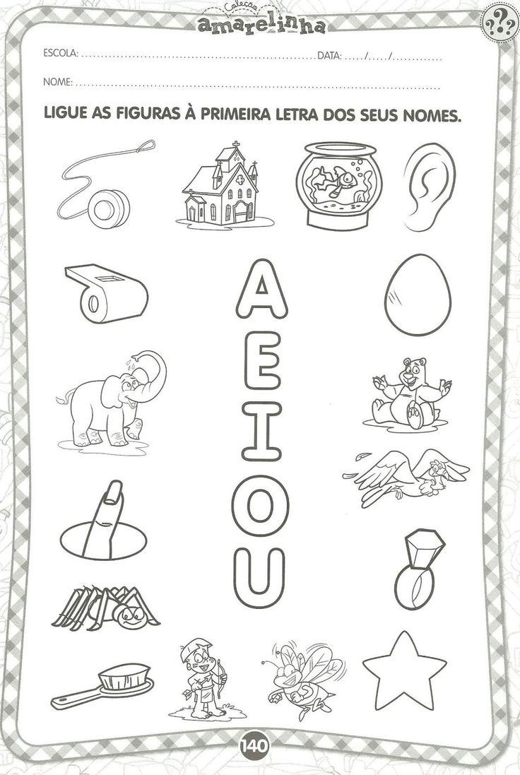 exercicios de alfabetização com vogais para imprimir - Pesquisa Google