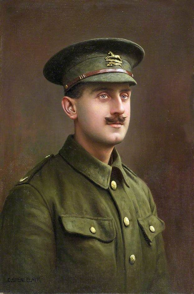 Private Vernon Spencelayh (1891–1980), West Yorkshire Regiment, 1914  by Charles Spencelayh National Army Museum