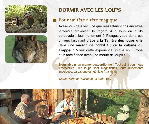 dormir avec ou presque les loups aux parc animalier de sainte croix voyage pinterest. Black Bedroom Furniture Sets. Home Design Ideas