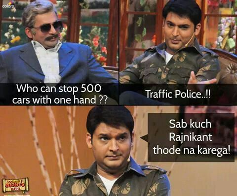 Kapil Sharma funny oneliners on Rajinikanth
