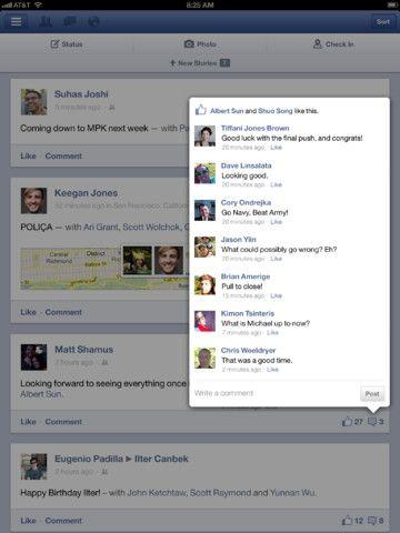 Facebook iPad App 5.0 #UI