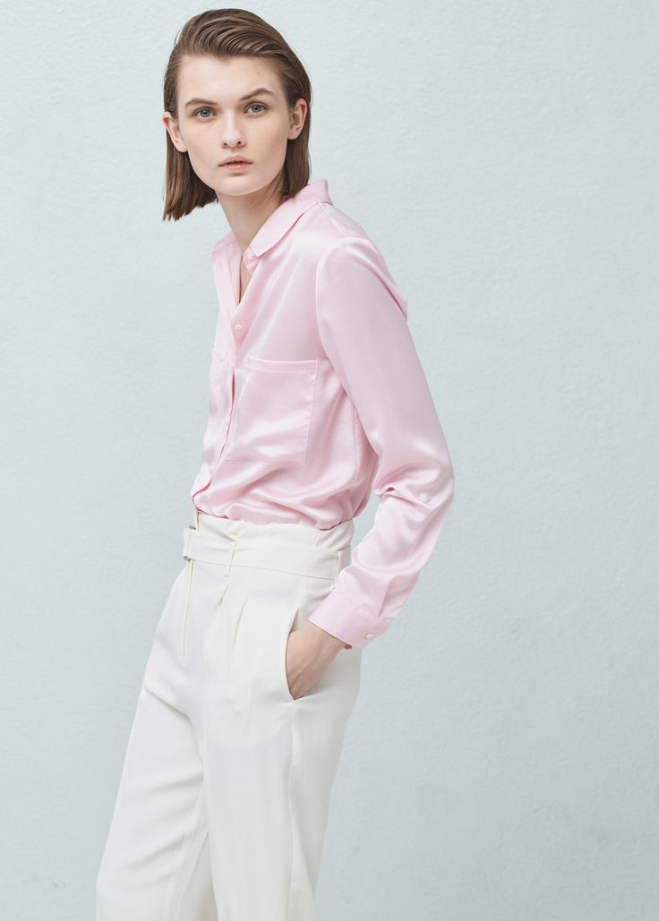 Pockets flowy shirt -  Woman | MANGO United Kingdom