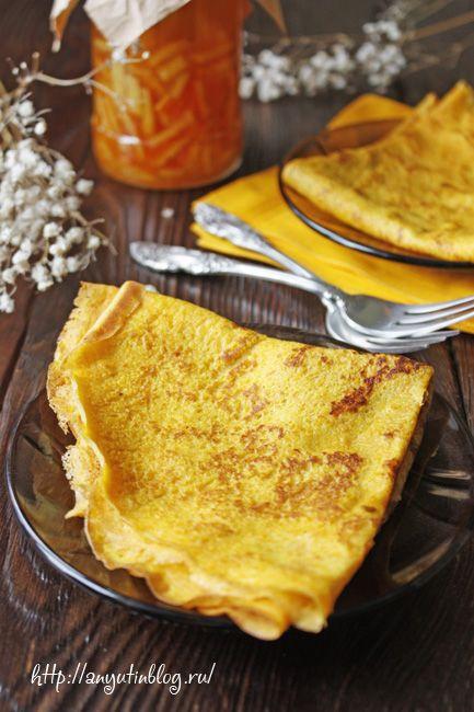 Тыквенные блины \ Pumpkin pancakes. #food, #tasty, #pancakes, #pumpkin, #sweet, #desssrt, #recipe, #recipes