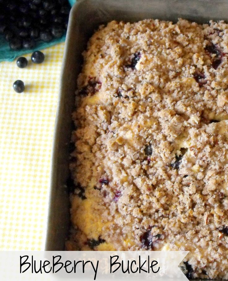 Blueberry Buckle Cake Recipe. The Perfect Breakfast Cake that goes great with a cup of coffee. Simple and Easy to Make.