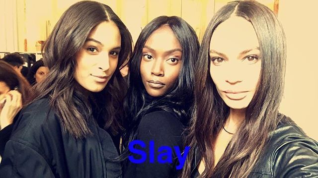 Pin for Later: Joan Smalls Is Having the Time of Her Life During Paris Fashion Week Backstage at Balmain