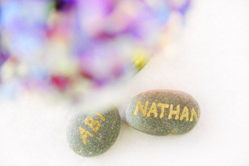 Place names on stones