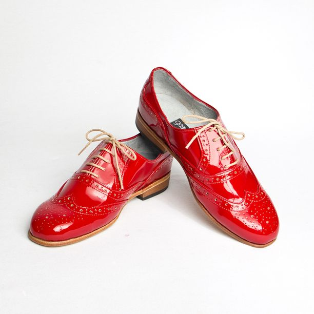 Oxford Shoes Women's Red red, women's shoes, goodbye folk