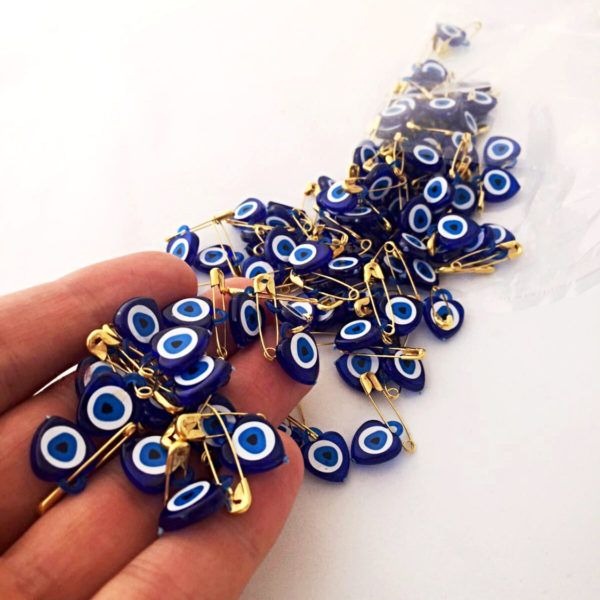 Resin evil eye beads, Unique wedding favor – 100 pcs