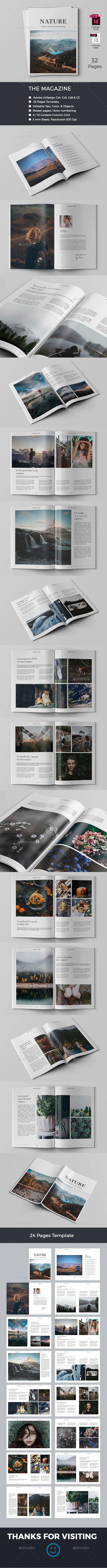 The Magazine — InDesign INDD #portfolio #magazine design • Available here ➝ https://graphicriver.net/item/the-magazine/20826498?ref=pxcr