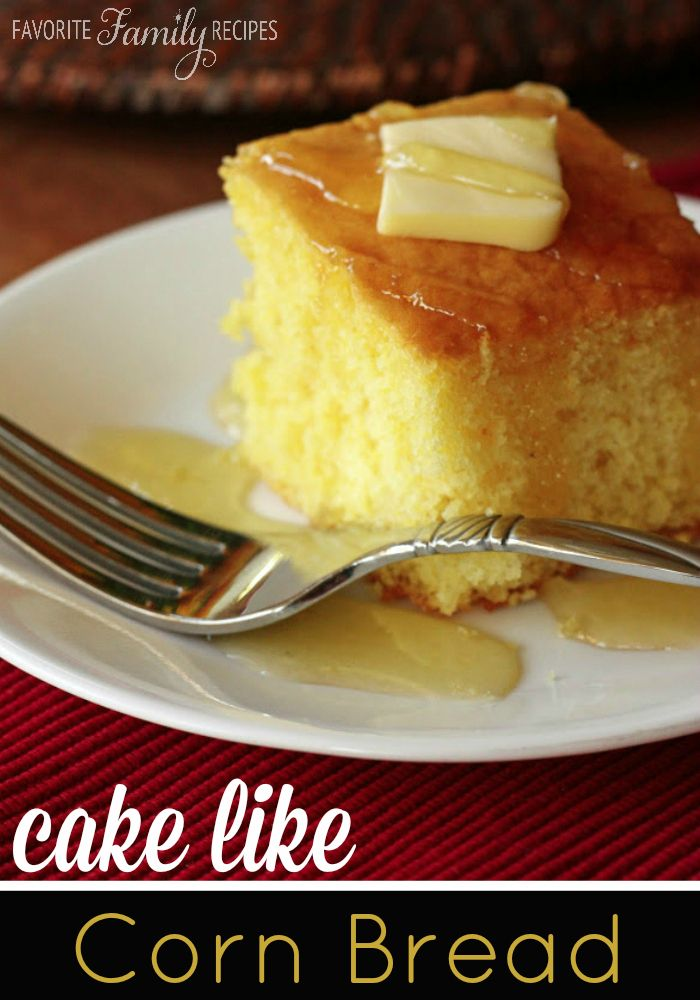 This cornbread is a perfect cross between a cake and cornbread. The texture is fluffy and smooth but has that yummy cornbread taste!