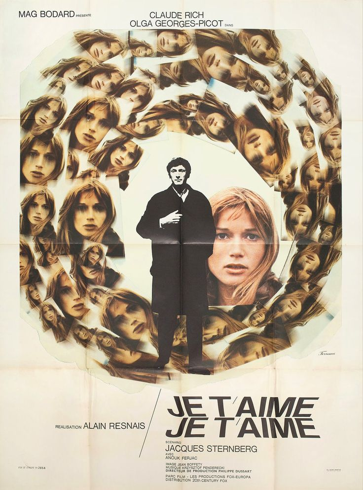 Je+t'aime,+je+t'aime+1968+French+Grande+Poster