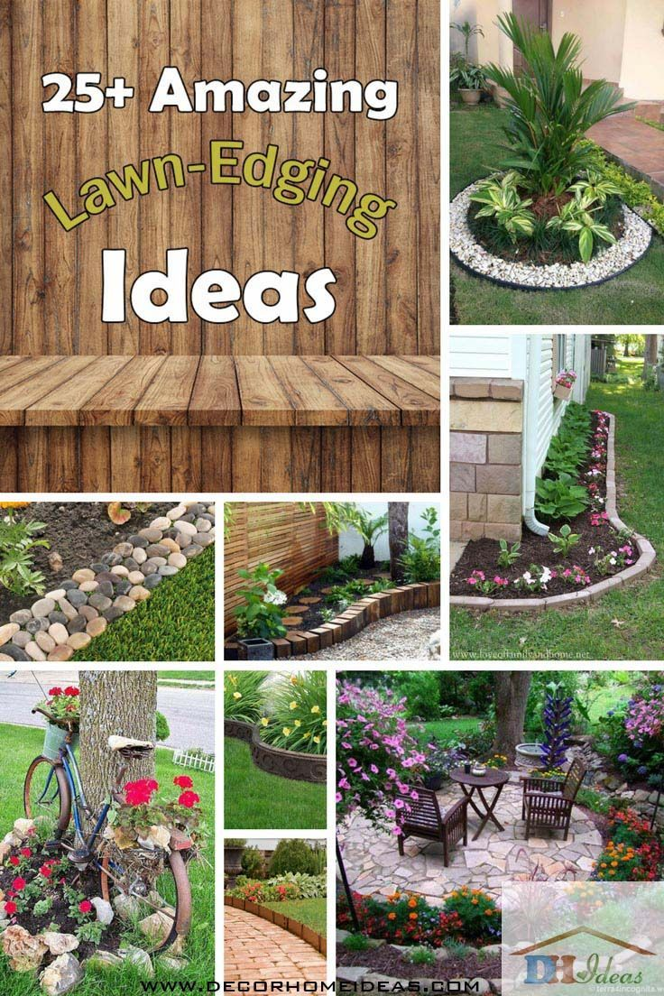 25 Amazing Lawn Edging Ideas For Your Garden Lawn Edging Backyard Landscaping Easy Landscaping