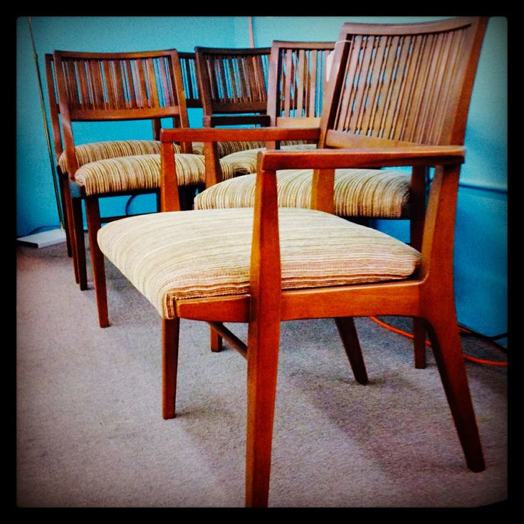 john vankoert for drexel set of 6 mid century dining chairs available at the nido vintage furnishings booth in the antique trove