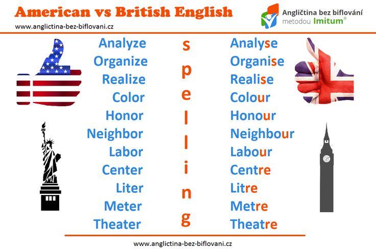 Mezi britskou a americkou angličtinou jsou jisté rozdíly ve výslovnosti, intonaci a ve slovní zásobě včetně pravopisu. 📝 Americký pravopis byl v několika případech zjednodušen oproti britskému. 🇺🇸 🇬🇧 #anglictina #rozdily