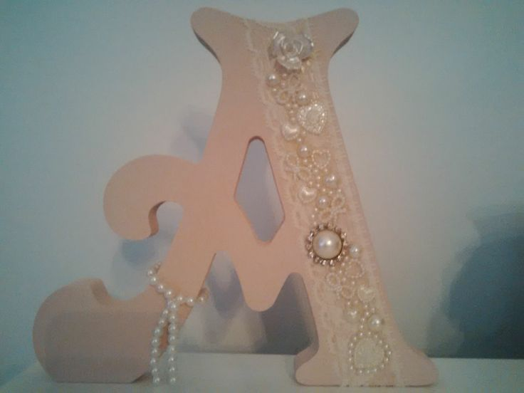 Embellished letters or numbers £10-£12