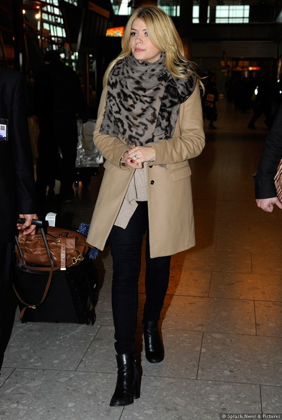 Holly Willoughby- black and camel