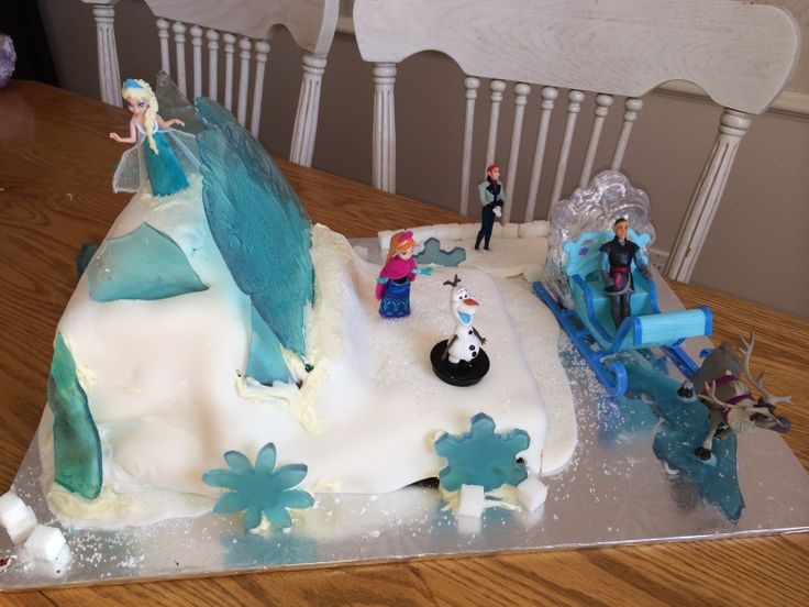 My Daughters Frozen Themed Birthday Cake Made With Sugar
