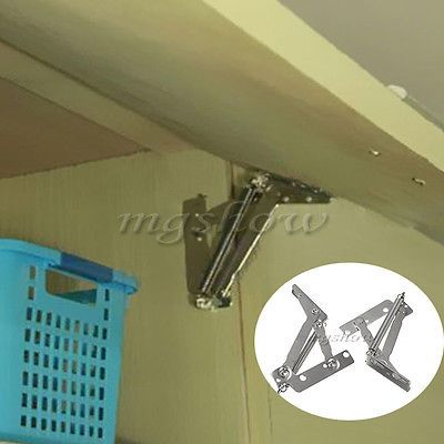 1Pair Of Kitchen Cabinet Cupboard Lift Up Flap Top Door 75° Degree Sprung Hinges