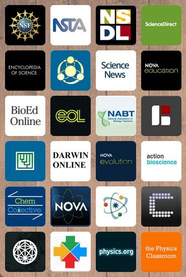 Collection of science resources for middle and high school teachers. Chemistry, physics, biology. Apps, videos, references, and much more.