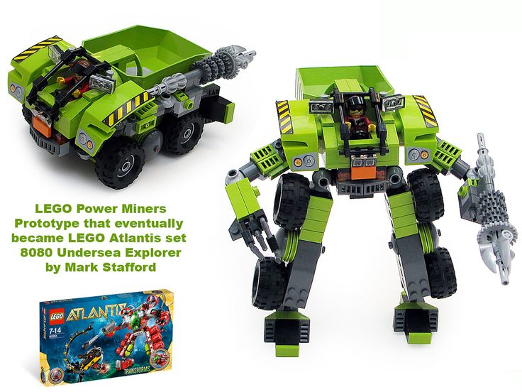 https://flic.kr/p/eeNqoy | Undersea-Explorer-PM-Prototy | Probably the last prototype I'll post for a while. This one was a Power Miners prototype that just didn't fit into that theme, but I kept hold of it and a year later it was redesigned for the Atlantis theme. Originally published in Brick Journal.