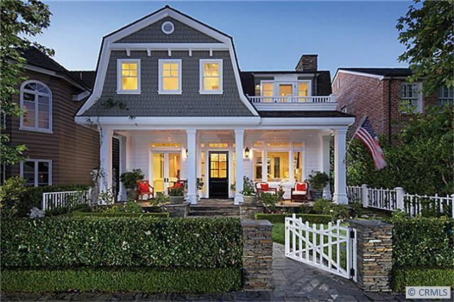 Dutch colonial porches with exterior front doors and partial stone exterior with cedar shakes for Colonial revival stone exterior paint