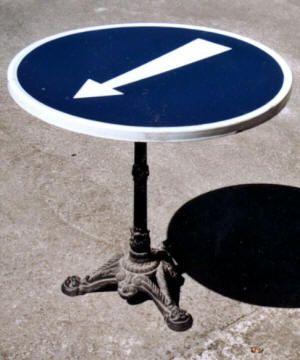 Table bistro panneau