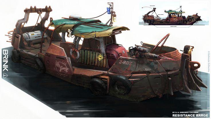 BRINK - Resistance Barge, Georgi Simeonov on ArtStation at https://www.artstation.com/artwork/brink-resistance-barge