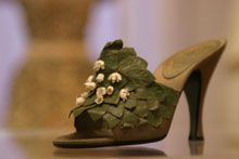 Christian Dior Lily of the Valley slipper
