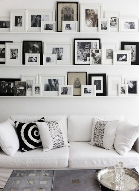 Gallery wall - shelves