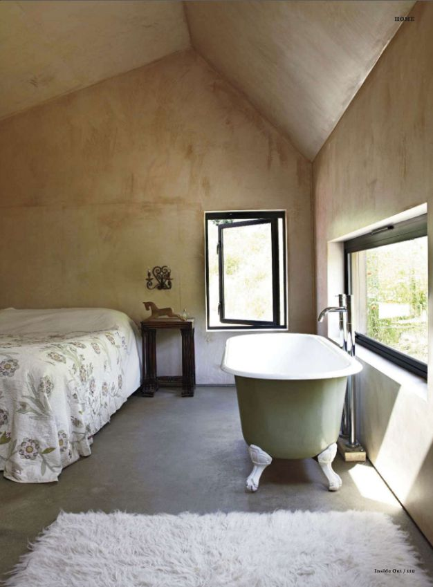 Bathtub In The Bedroom Or A Bed In The Bathroom.