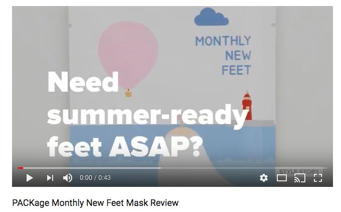 PACKage MONTHLY NEW FEET REVIEW - the STYLE STORY Vlog reviews PACKage Korea's peeling foot masks to see what they do and how they work!