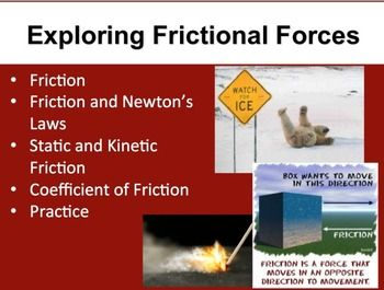Exploring Frictional Forces - A Physics PowerPoint Lesson ...