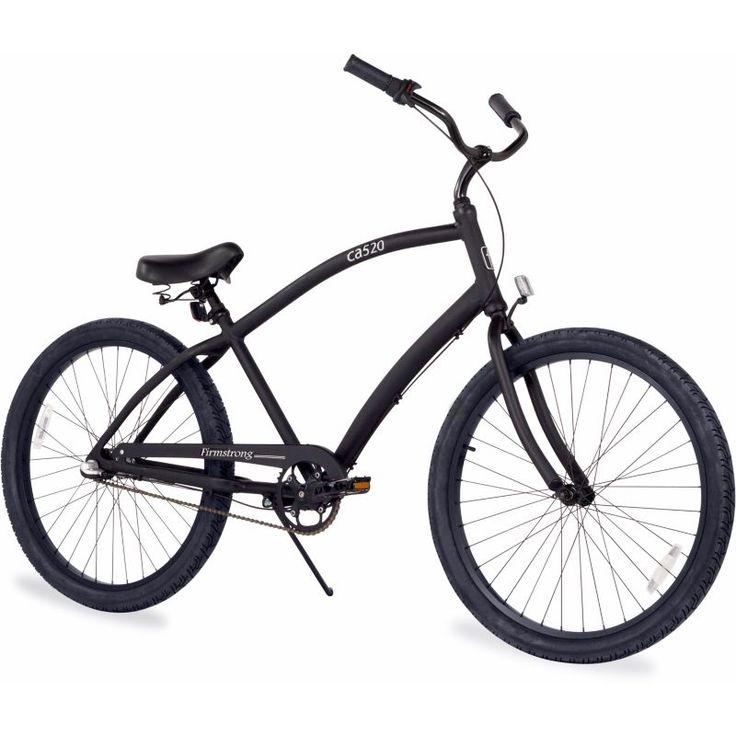 Firmstrong Adult CA-520 Alloy Three Speed Beach Cruiser Bike, Black